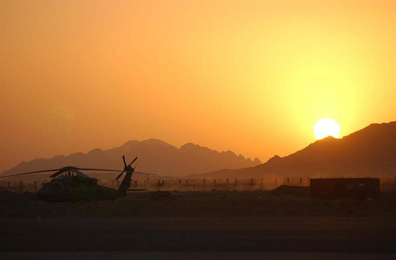 Sunset at Kandahar Airfield, Afghanistan