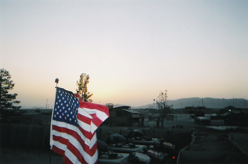 2003 - US Army motorpool at Kandahar Airfield