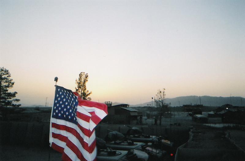 2003 - US Army motorpool at Kandahar Airfield