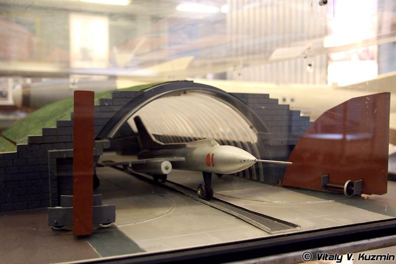 Макет самолетного укрытия, построенного на аэродроме Гудаута (Model of aircraft cover from Gudauta airbase)