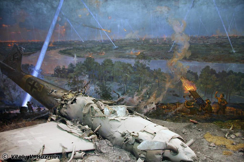 """Диорама «Противовоздушная оборона города Москвы, июль 1941 года.» (Diorama """"Antiaircraft defense of Moscow"""")"""