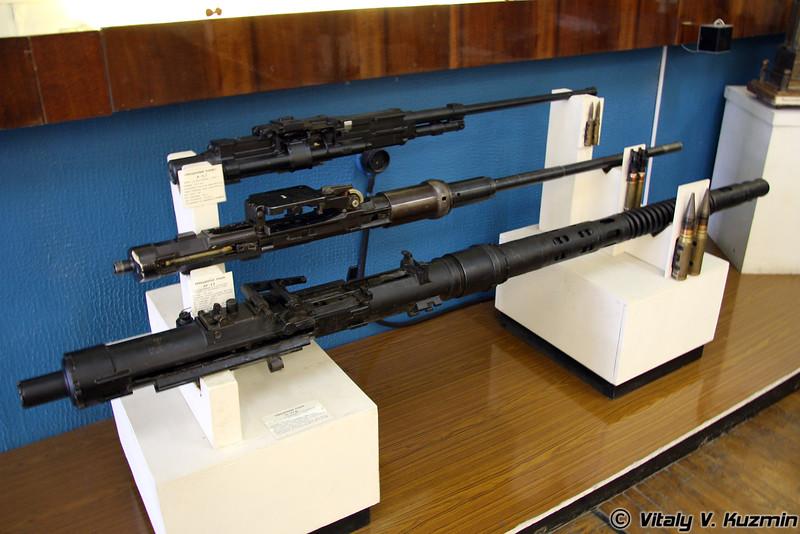 Авиационный пулемет А-12,7, авиационные пушки НР-23 и Н-37Д (Avia machinegun A-12,7, avia cannons NR-23 and N-37D)