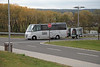 Our chartered bus and baggage trailer used to take us over to Ramstein.<br /> <br /> ~ Image by Martin McKenzie All Rights Reserved ~