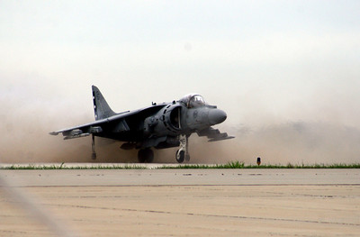 Harrier vertical landing