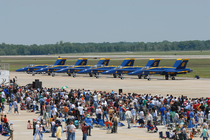 2008 Joint Service Open House Airshow, Andrews Air Force Base, Maryland, USA; US Navy Blue Angels Flight Demonstration Team