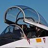 Cockpit canopy of NASA F/A-18