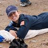 Cadet 1C Ilea Eskildsen of the USAF Academy Parachute Team repacks her parachute...