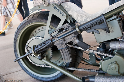 Harley Davidson motorcycle built by Orange County Choppers for the US Army