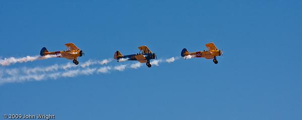 Stearman Formation flying