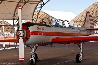 Yak-52 Russian instrument and aerobatic flight trainer