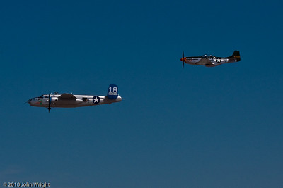 B-25 Mitchell and P-51D Mustang