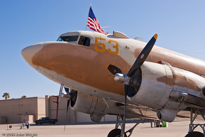 DC-3 (C-47) in a desert camouflage pattern