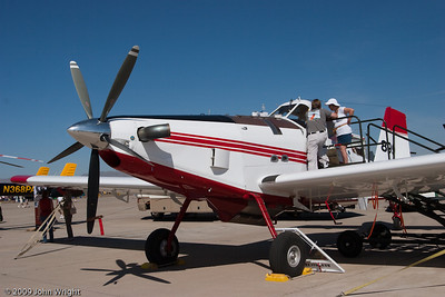Air Tractor 802 converted for aerial fire fighting.