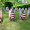 American Flags have been put out on the graves of veterans in the Lowell Cemetery on 77 Knapp Avenue for Memorial Day this Monday. These flags are on graves for members of the Grand Army of the Republic. SUN/JOHN LOVE