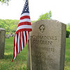 American Flags have been put out on the graves of veterans in the Lowell Cemetery on 77 Knapp Avenue for Memorial Day this Monday. This flags is on graves for a veeteran of WWI. SUN/JOHN LOVE
