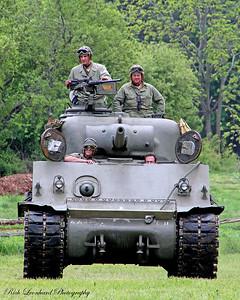 M3 Sherman army tank from WW2.