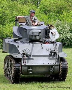 US Army M3 Stuart light tank from WW2.