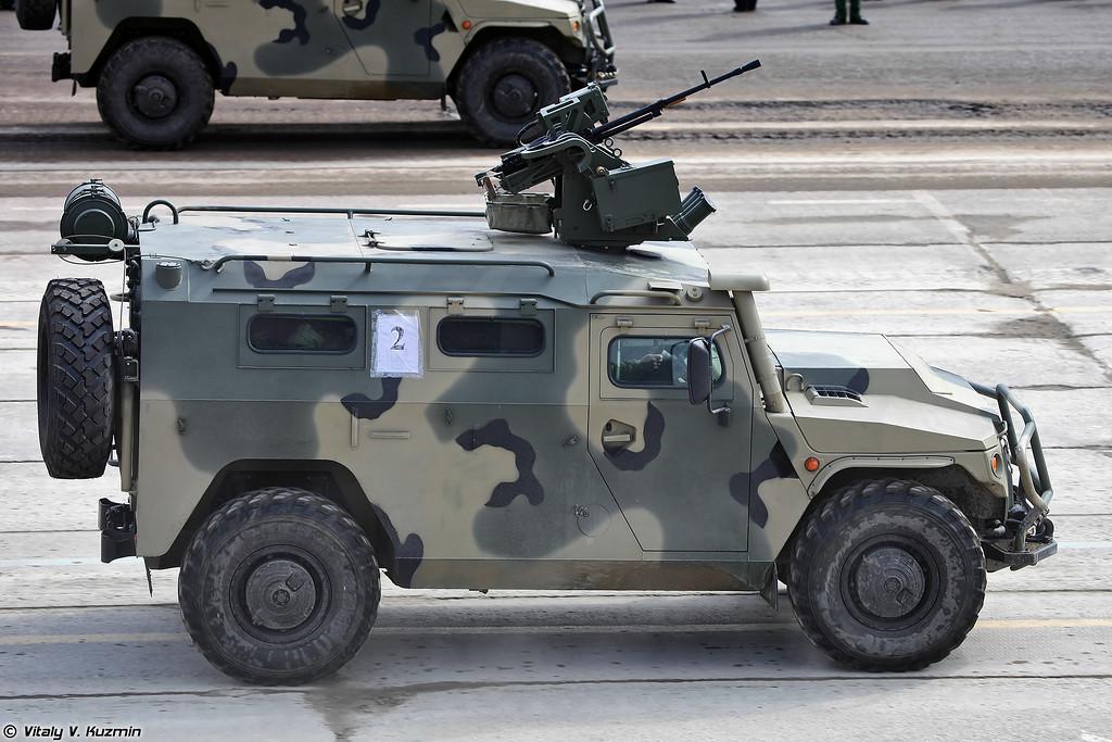 АМН 233114 Тигр-М с боевым модулем Арбалет-ДМ (AMN 233114 Tigr-M with remote controlled turret Arbalet-DM)