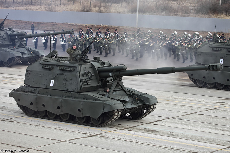 САУ 2С19М2 Мста-С (2S19M2 Msta-S self-propelled artillery)