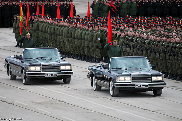 April 22nd last rehearsal in Alabino of 2016 Victory Day Parade