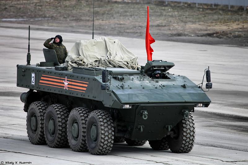 Бронетранспортер К-16 ВПК-7829 на унифицированной колесной боевой платформе Бумеранг (Armored personnel carrier K-16 VPK-7829 on unified wheeled combat platform Bumerang)