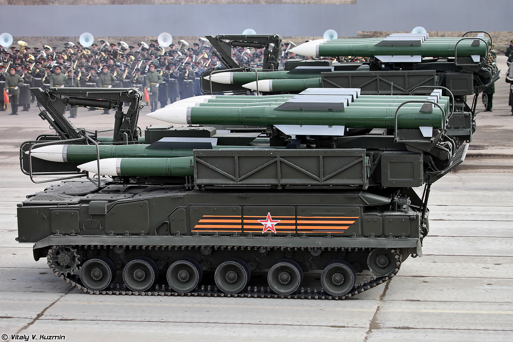 Пуско-заряжающая установка 9А316 ЗРК Бук-М2 (9A316 transporter erector launcher and transloader for Buk-M2 air defence system)