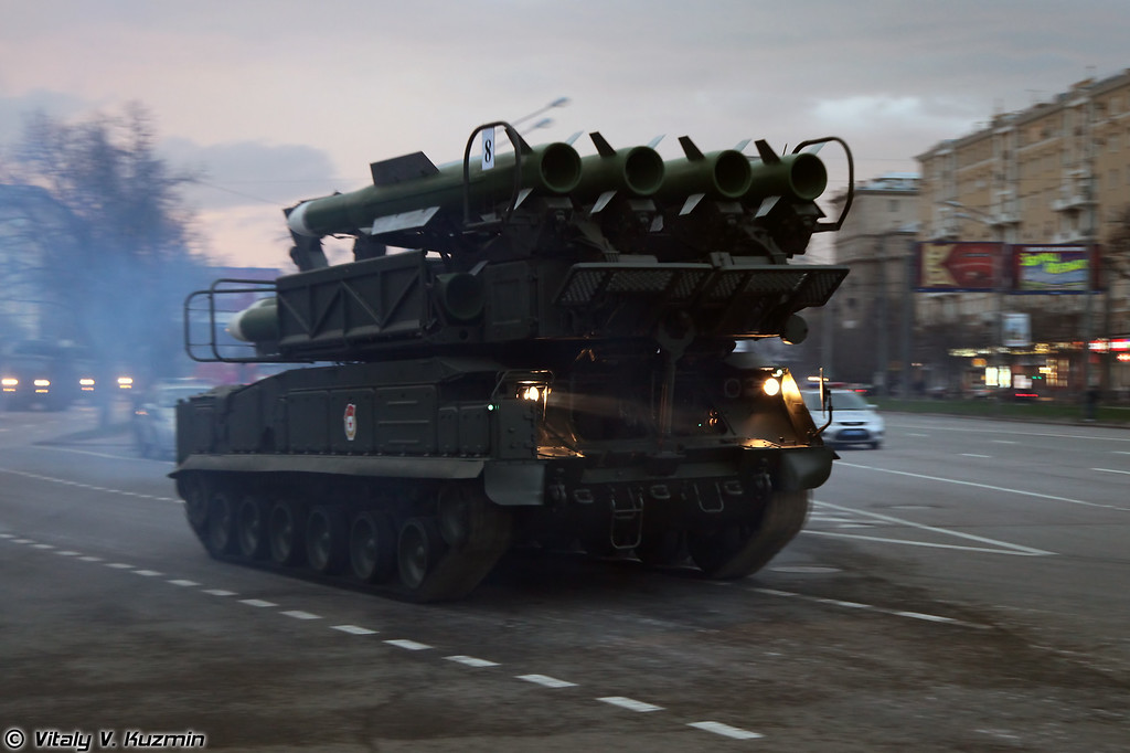 Пуско-заряжающая установка 9А39М1 ЗРК Бук-М1-2 (9A39M1 transporter erector launcher and transloader for Buk-M1-2 air defence system)