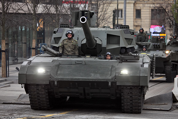 April 28th rehearsal of 2016 Victory Day Parade in Moscow