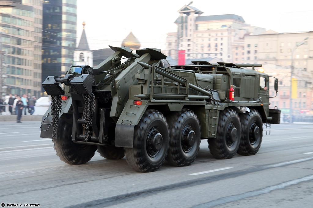 Колесный эвакуационный тягач КЭТ-Т (Wheeled evacuation carrier KET-T)