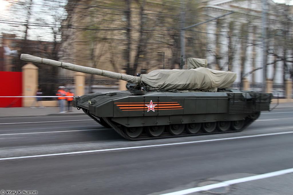 Основной боевой танк Т-14 объект 148 на тяжелой гусеничной унифицированной платформе Армата (Main battle tank T-14 object 148 on heavy unified tracked platform Armata)