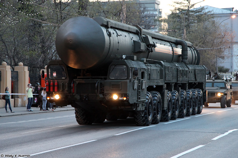 АПУ 15У175М комплекса РС-24 Ярс (15U175M TEL from RS-24 Yars ICBM)