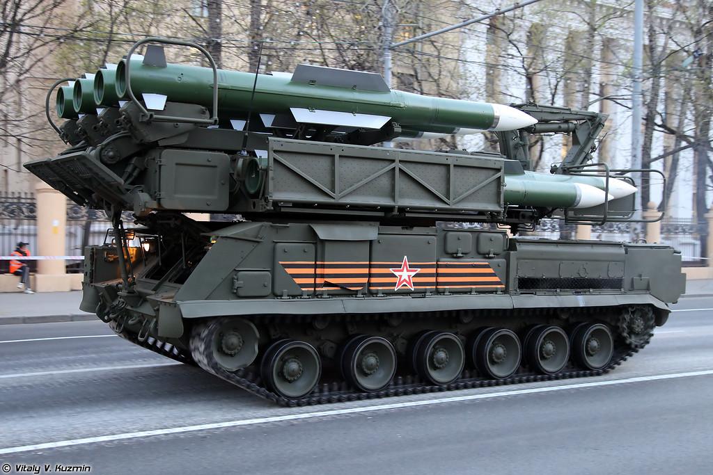 Пуско-заряжающая установка 9А316 ЗРК Бук-М2 (9A316 transporter erector launcher and transloader for Buk-M2 air defence system)