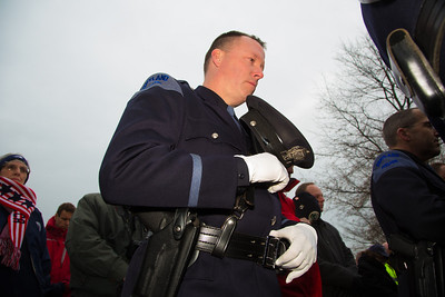 Kevin Haley, Portland, Maine Police would later lay a wreath on the grave of his brother William.