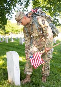 Arlington National Cemetery; Memorial Day Weekend; Flags-In