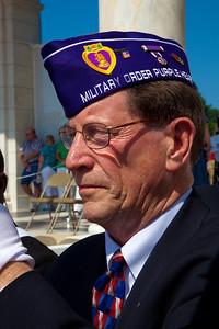 Member of the Military Order of the Purple Heart at the Presentation of Colors at Arlington National Cemetery on the day of the 142nd Memorial Day observance at the cemetery on  May 31, 2010 (Photo by Jeff Malet)
