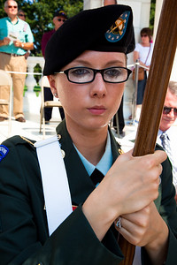 Presentation of Colors at Arlington National Cemetery on the day of the 142nd Memorial Day observance at the cemetery on  May 31, 2010 (Photo by Jeff Malet)
