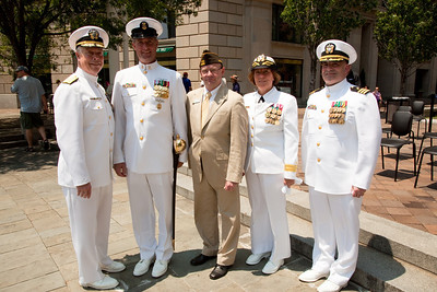 Naval District Washington's Wreathlaying ceremony accompanied by the U.S. Navy Band, with speaker RDML Patty Wolfe, SC, USN, Commander of Naval Expeditionary Logistics Support Group (NAVELSG) at the United States Navy Memorial in Washington DC on Memorial Day May 31, 2010. (Photo by Jeff Malet)
