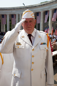 Ray Glock is a member of the VFW Ntional Honor Guard at the 142nd Memorial Day observance at Arlington National Cemetery on  May 31, 2010 (Photo by Jeff Malet)