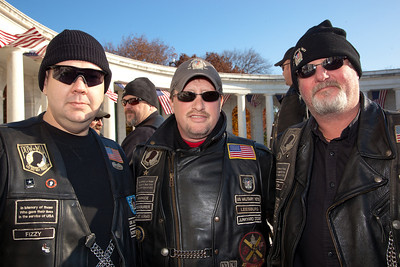 """Fizzy"", ""Rawhide"" and Okie"" of the Junkyard Dogs, US Military Vets MC"