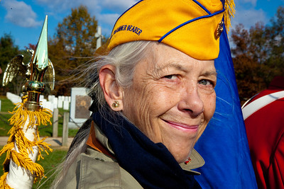 Mary Garcia of Chesapeake, VA was a flag bearer with the National Marine Corps League Auxiliary.