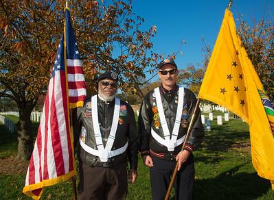 Vietnam Veterans Color Guard Frank Jackson Jim Tyson
