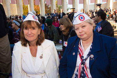 Blue Star Mothers Judy Dorsey and Susan Simmons, both of Ohio