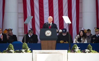 Mike Pence, Veterans Day, Arlington National Cemetery