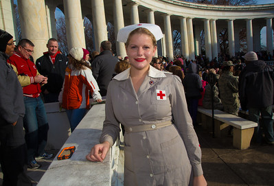Esther Rea from Damascus MD dressed as a World War II (Gray Lady) Nurse