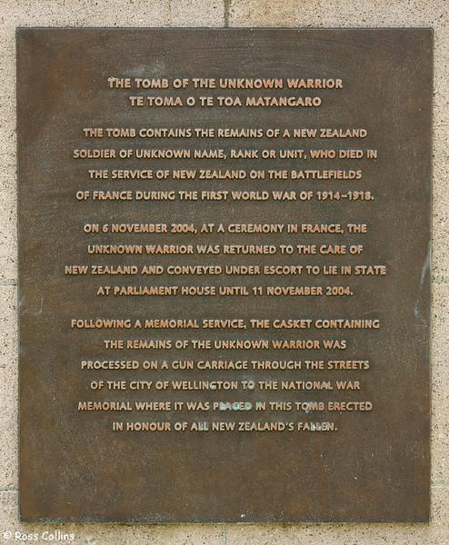 Armistice Day, National War Memorial, Wellington, 11 November 2007