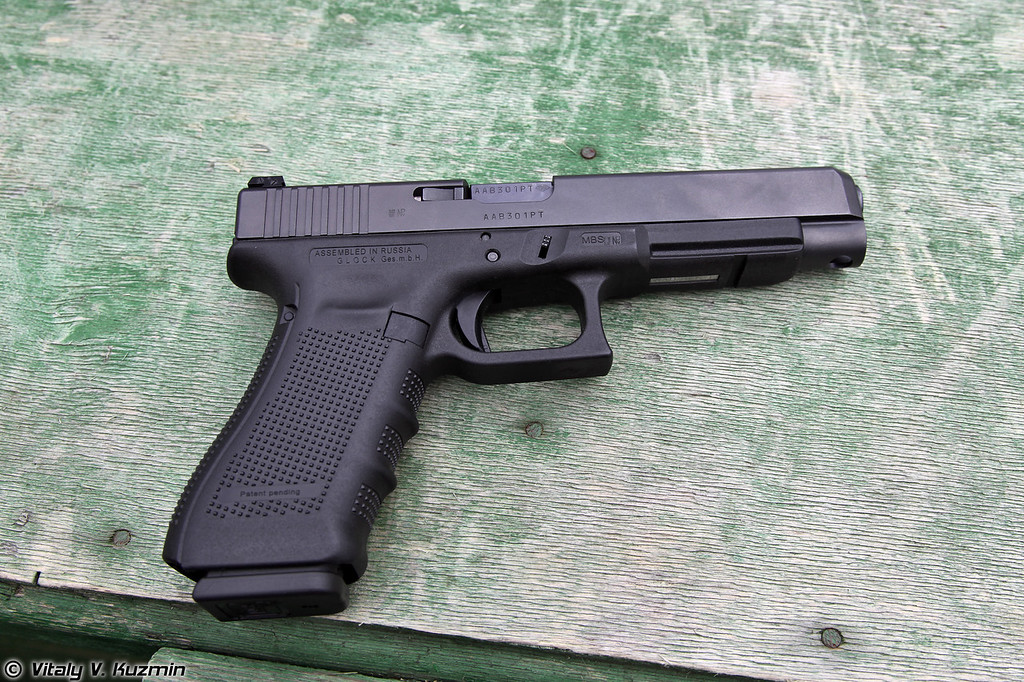 "Glock 34 Gen4, собранный по лицензии в России на заводе ГК ""Промтехнологии"" (Glock 34 Gen4 assembled in Russia by Promtechnologies Group under Glock license)"