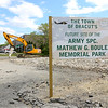 The have started work on the future site of the Army SPC. Mathew G. Boule Memorial Park on Lakeview Avenue in Dracut. SUN/JOHN LOVE