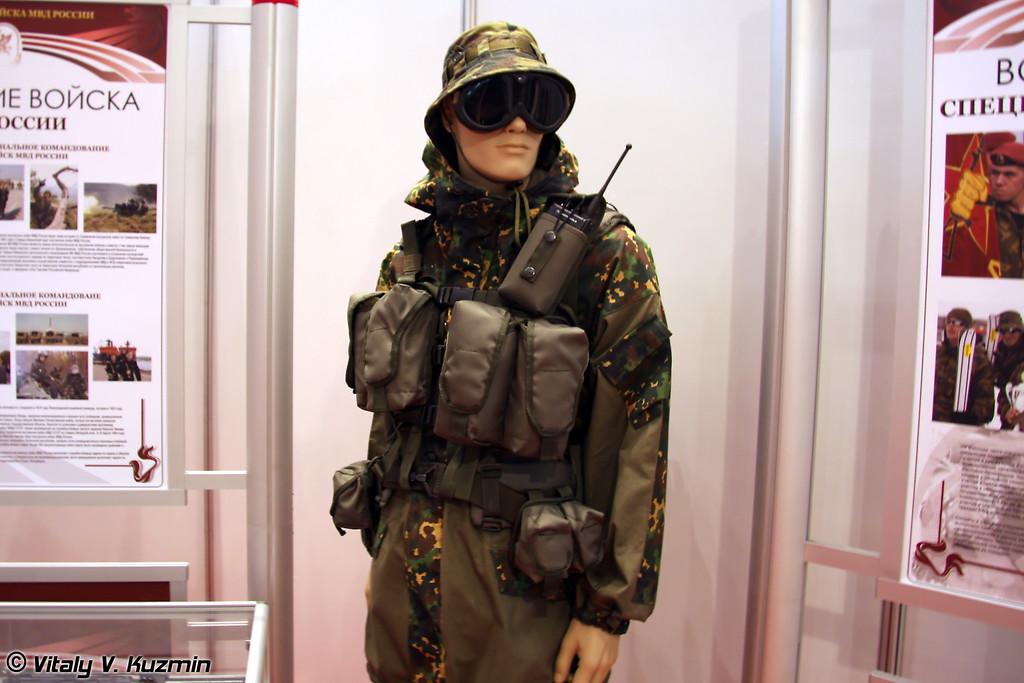 Экипировка военнослужащего подразделений специального назначения ВВ МВД России (Internal troops special purpose units equipment)