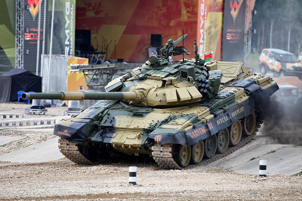 Танк Т-72БМ1 команды Республики Беларусь (T-72BM1 tank of Belarus team)