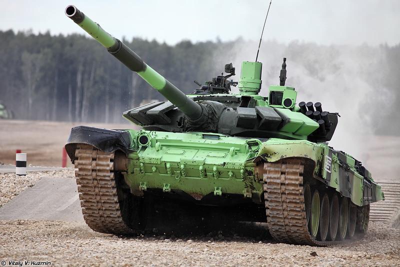 Танк Т-72Б3М команды России (T-72B3M tank of Russian team)